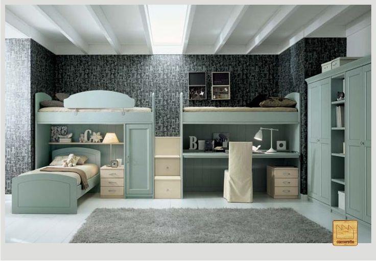 Oltre 1000 idee su mobili per cameretta dei bambini su - Cameretta due letti ...