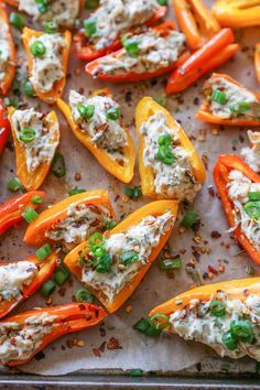 Caramelized Onion and Cream Cheese Stuffed Peppers | http://TheRoastedRoot.net