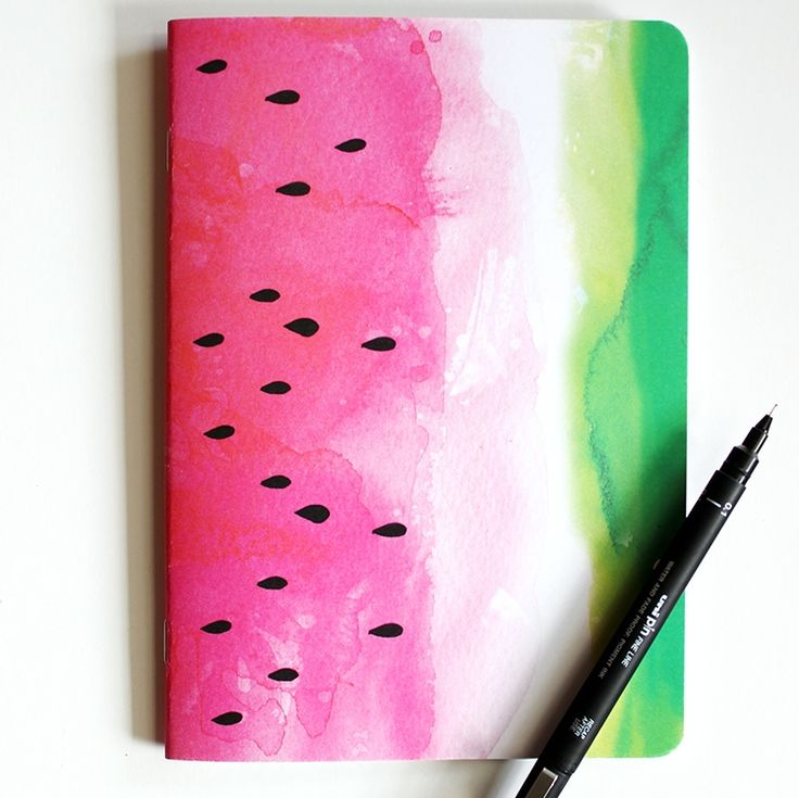 UNDER $15: Watermelon blank notebook. Shop now at www.hardtofind.com.au