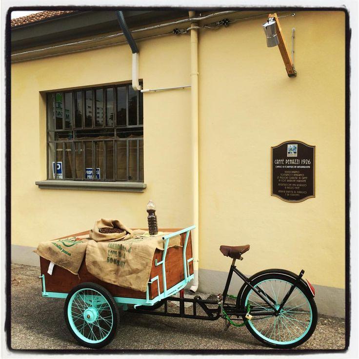 My #Coffee #Bike outside my #Coffee Roastery in #Ferrara #Italy #CaffèPenazzi1926