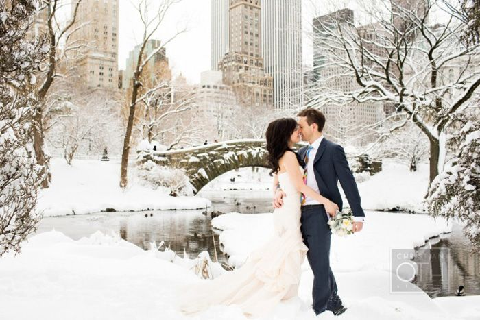 For Couples Who Love Winter: Looking for an urban winter escape? Why not leave the slush and grey of the city streets behind and get lost in the winter wonderland of  Central Park, New York City, New York: