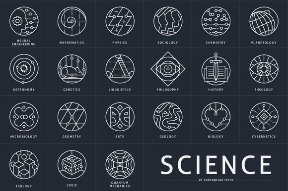 Interesting. Check out 26 Conceptual Science Marks by Youhhou on Creative Market