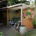 Zelf een afdak maken voor fietsen en meubels