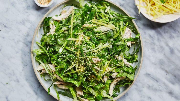 Chicken Salad with Miso Dressing Recipe   Bon Appetit