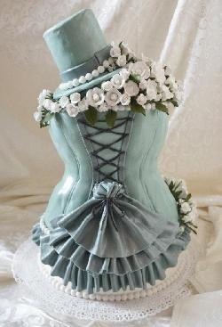 Corset gothic wedding cake