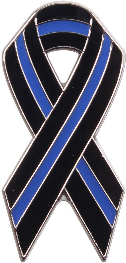 Thin Blue Line Ribbon Pin 17f6487f8da