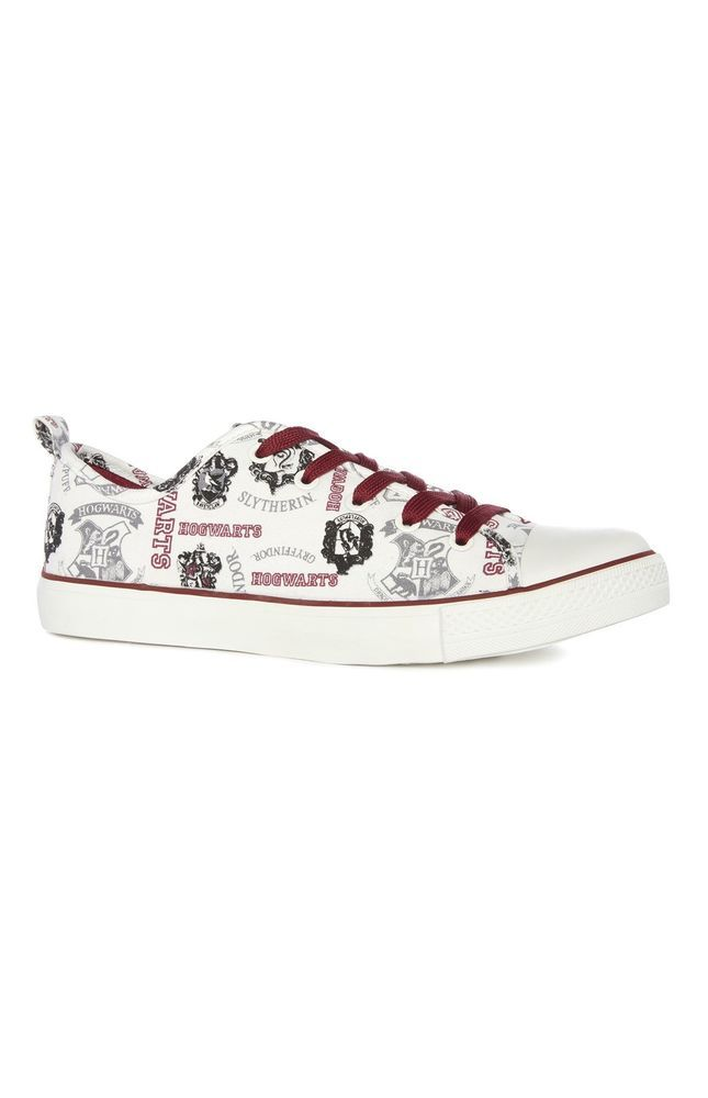 Primark HARRY POTTER HOGWARTS Licensed Primark Ladies Lace Up Trainers Shoes