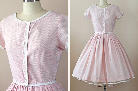 1960s Pink Dress / 60s Dress // The Rose Quartz by WearAreTheyNow