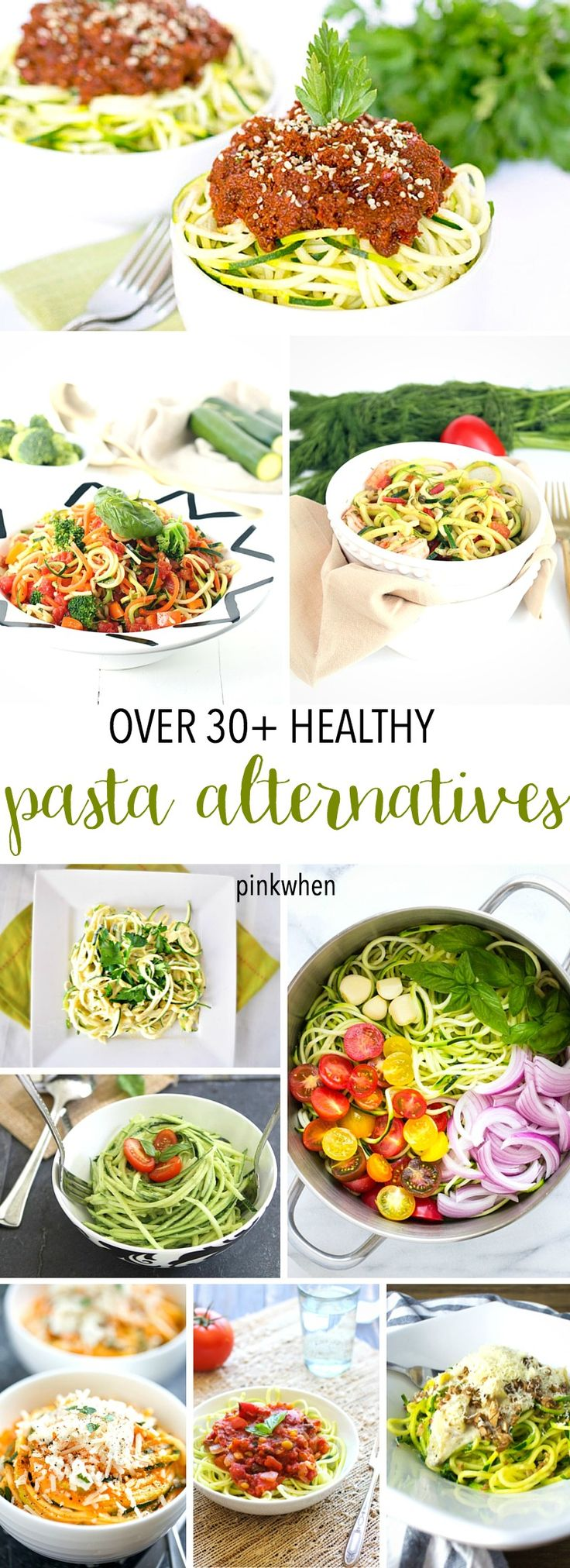 Over 30+ Low Carb and Healthy Pasta Alternatives. Popular Recipe pin!