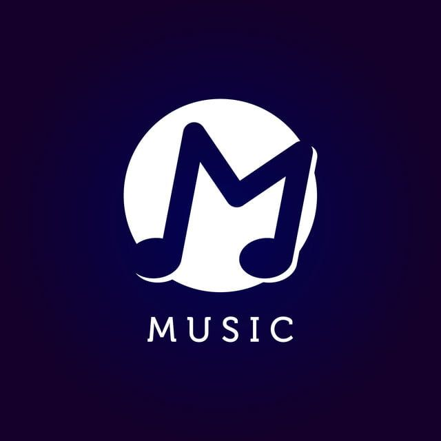 Music Logo With Letter M Symbol In Negative Space Music Logo Music Note Logo Letter Logo