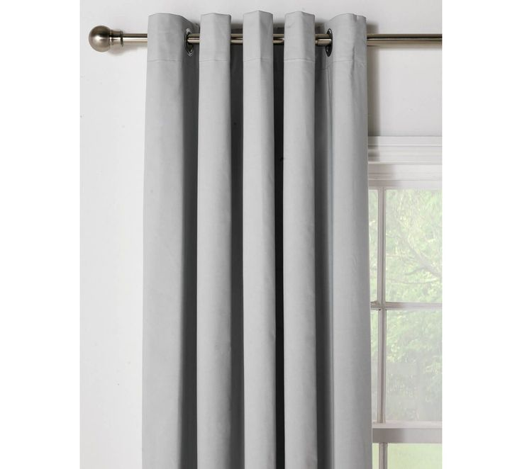 Buy HOME Blackout Thermal Curtains - 117x137cm - Dove Grey at Argos.co.uk, visit Argos.co.uk to shop online for Curtains, Blinds, curtains and accessories, Home furnishings, Home and garden