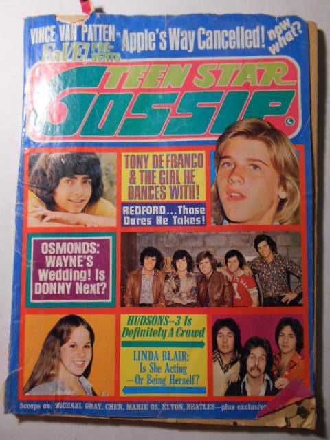 Teen Star Gossip Magazine Mar 1975 Tony DeFranco Osmonds