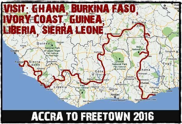 Our overland adventure trip between Accra, Ghana and Freetown, Sierra Leone www.overlandingwestafrica.com/accratofreetown