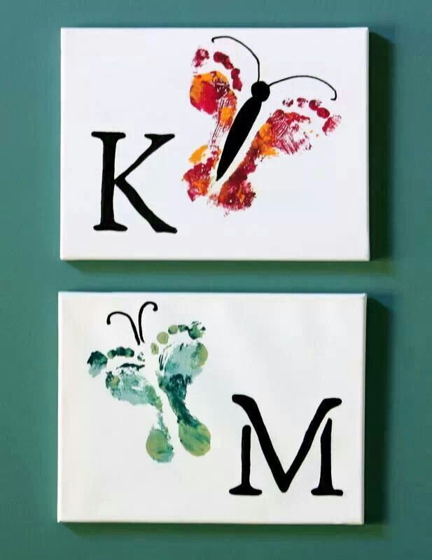 Butterfly prints! Neat idea for a baby's room.
