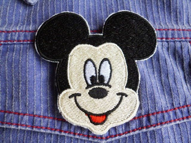 Mickey Mouse head iron-on patch/badge. by Trufio on Etsy