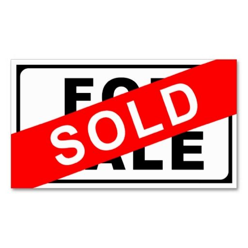 For Sale Sold Sign: SOLD Sign