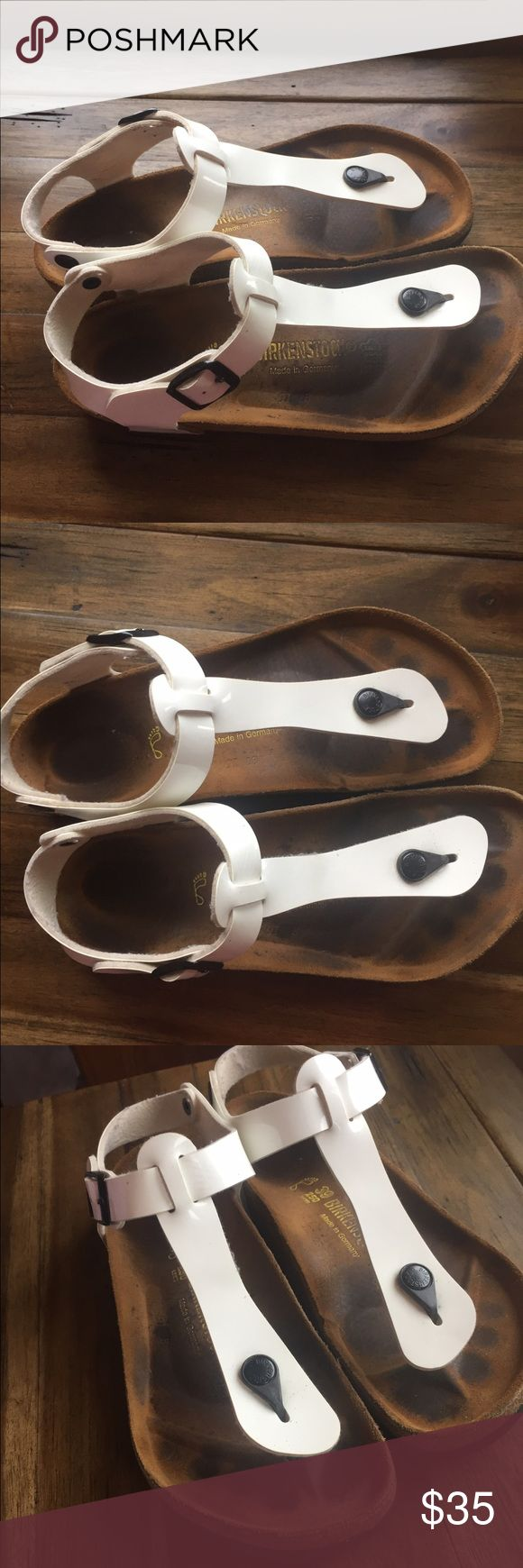 White Birkenstock sandals Closet clean out- selling everything I haven't used in the past year. Good conditions and great deals! Birkenstock Shoes Sandals