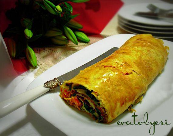 Rulo Börek (Pastırma, Havuç ve Ispanaklı)