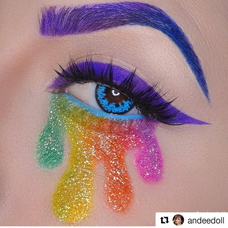 """1,940 Likes, 11 Comments - Pretty Zombie Cosmetics®  (@prettyzombiecosmetics) on Instagram: """"@andeedoll used 3 Witches lipstick for brows & liner  #rainbow #purplelipstick…"""""""