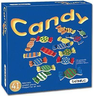 41 bonbons sont répartis sur le plateau. Les joueurs jettent 3 dés de couleur et doivent retrouver les bonbons correspondant à cette combinaison de couleur. Il y a trois façons de jouer et de gagner.