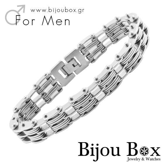 Men's bracelet stainless steel CHAIN Βραχιόλι ανδρικό ατσάλινο CHAIN Check out now... www.bijoubox.gr #BijouBox #Men #Bracelet #StainlessSteel #Βραχιόλι #Handmade #Χειροποίητο #Greece #Ελλάδα #Greek #Κοσμήματα #MadeinGreece #jwlr #Jewelry #Fashion
