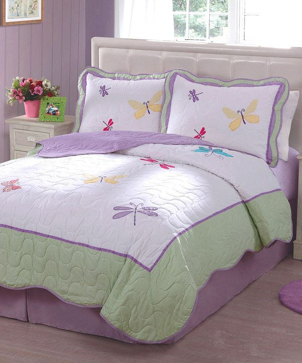 Look at this Dancing Dragonflies Quilt Set on #zulily today!