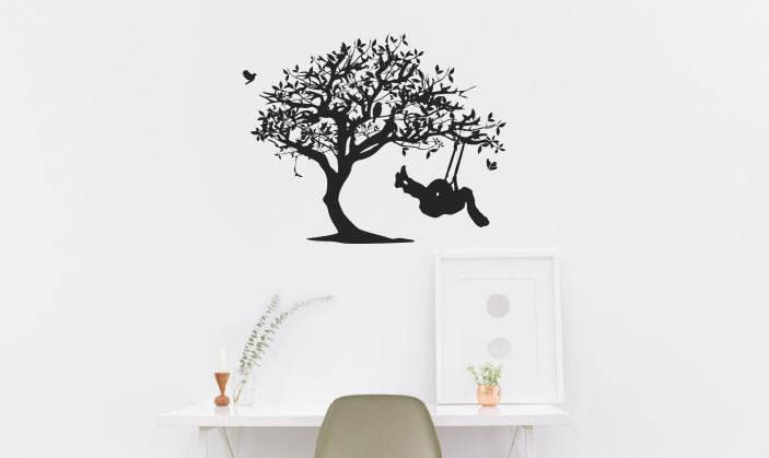 Excited to share the latest addition to my #etsy shop: Girl Swinging from tree Decal:  Blowing Tree Decals, Decals for Home, Inspirational Decals, Decals for Women, Decals for Men, Birthday Gifts