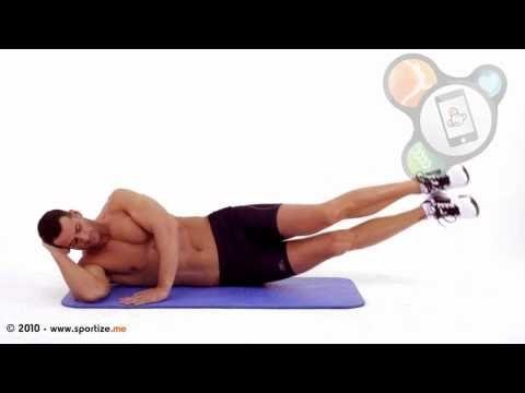 Elevaciones laterales de piernas juntas