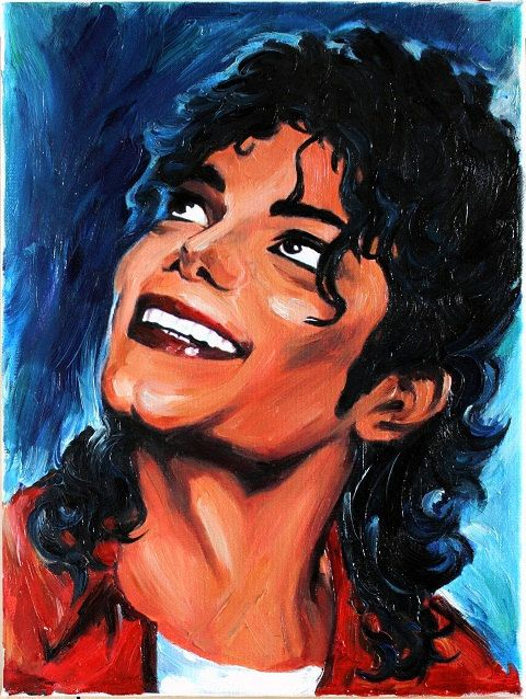 Michael Jackson Original Oil Paintings on Canvas Portrait Art by Anastassia. $135.00, via Etsy.
