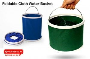 Foldable Cloth Water Bucket Wadah Penyimpanan Air Yang Bisa Dilipat Pada Saat Tidak Digunakan Only Rp. 45,000  - www.evoucher.co.id #Promo #Diskon #Jual  Klik > http://evoucher.co.id/deal/Foldable-Cloth-Water-Bucket  Peralatan rumah tangga seringkali menyita ruang yang banyak untuk menyimpannya sehingga rumah menjadi terkesan sumpek dan berantakan. Tapi kini Anda tidak perlu khawatir lagi karena Evoucher punya penawaran berupa Foldable Cloth Water Bucket, yaitu wadah peny