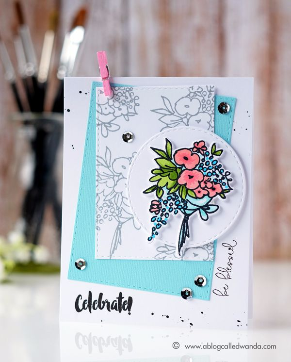 Altenew Artist Markers - Card by Wanda Guess. Celebrations stamps and dies!