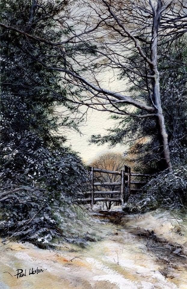 "https://www.facebook.com/MiaFeigelson ""Near Cwmbran Tunnel, Wales"" (2013) By Paul Weston, from Cwmbran, Wales, UK - watercolor - https://www.facebook.com/paulwestonwatercolours"