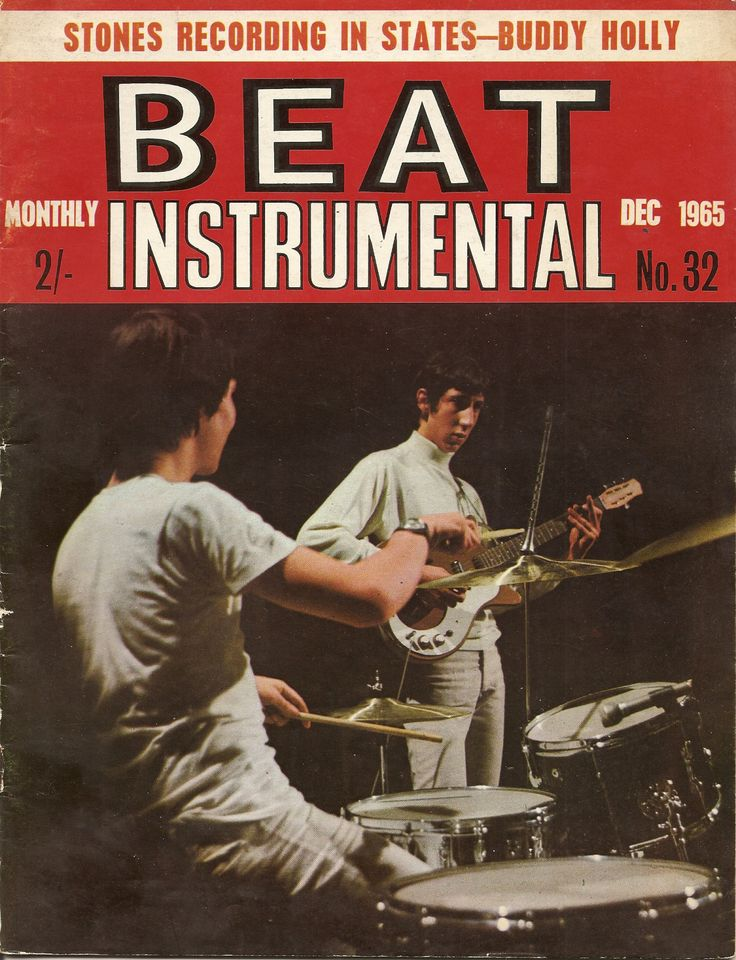 "yajunogringo: "" Keith Moon and Pete Townshend of THE WHO on the cover of the UK music magazine, BEAT INSTRUMENTAL, Dec. 1965. """