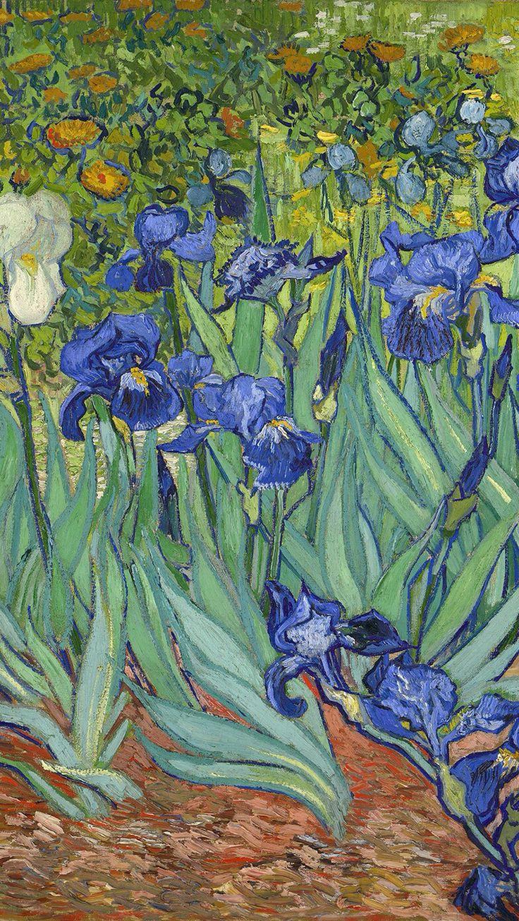 Irises by Vincenet Van Gogh / Download more Van Gogh's paintings as an iPhone wallpaper via @prettywallpaper