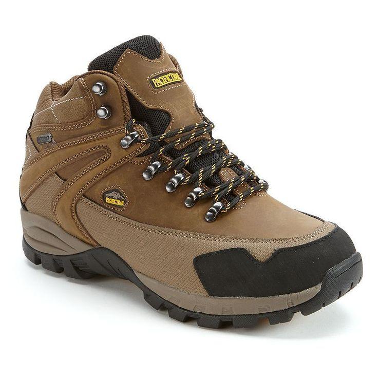 Pacific Trail Rainier Men's Waterproof Hiking Boots, Size: medium (10.5), Beig/Green (Beig/Khaki)