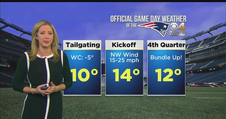 Check out the forecast for today's game at Gillette Stadium, brought to you by WBZ.