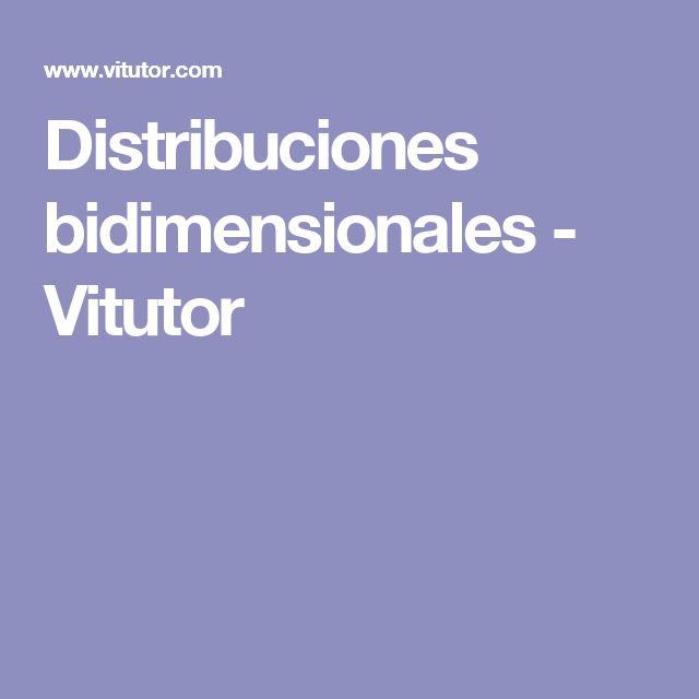 Distribuciones bidimensionales - Vitutor