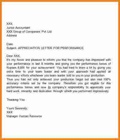Appreciation Letter Bossreciation For Performanceg Thank You Bossank Boss  Appreciation Letter