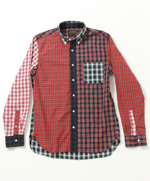 BEAMS PLUS(ビームスプラス)の【予約】BEAMS PLUS / タータンチェック クレイジー ボタンダウンシャツ(シャツ・ブラウス)|詳細画像