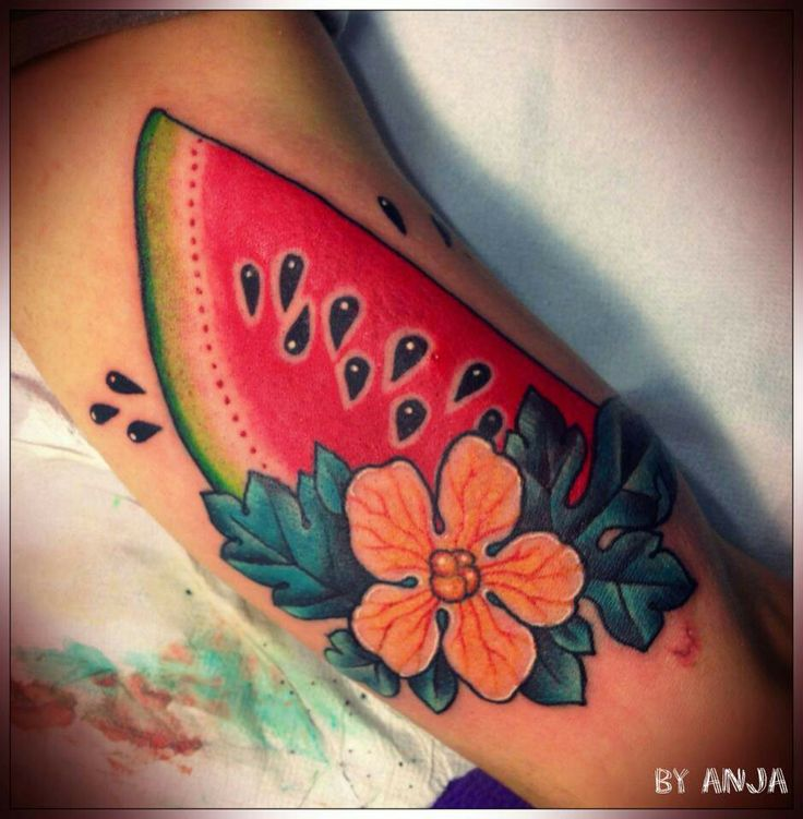 8 best tattoo images on pinterest tattoo ideas food tattoos and watermelon tattoo. Black Bedroom Furniture Sets. Home Design Ideas