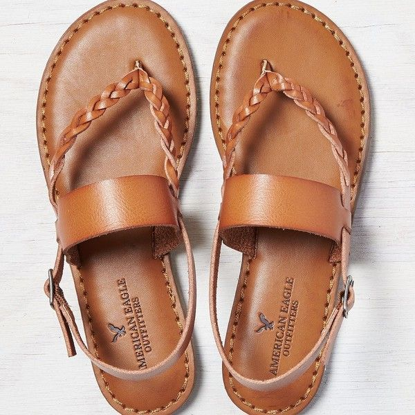 12b10546e62 Tan AEO Braided   Wide Strap Sandal Nice comfortable shoes to take on a  vacation.