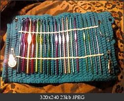 Roll-Up #Crochet Hook Case Free Pattern