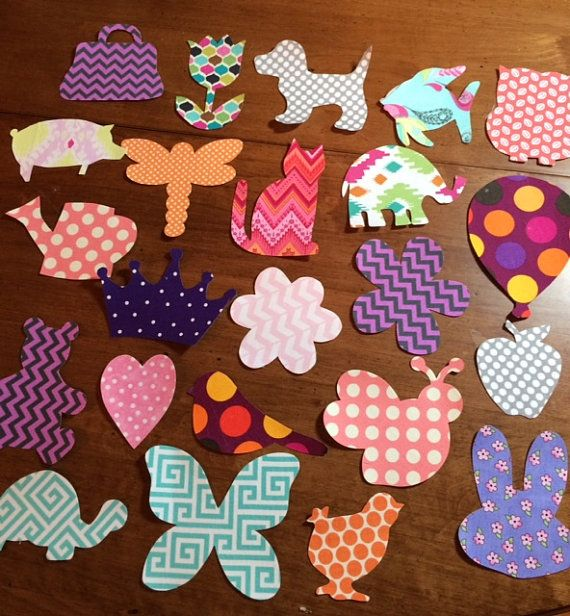 Assorted Baby Iron-on Appliques to be ironed onto a onesie, burp cloth, quilt, bib, etc. Creates an adorable craft station for any baby