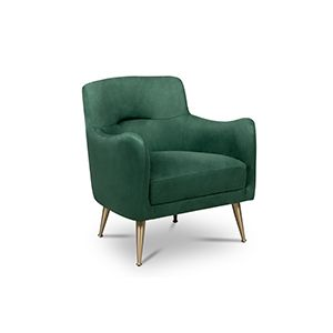 Named after Dorothy Dandridge, the first African-American actress to be nominated for an Oscar, this armchair uses the same name and grandeur it displays, having two accent armrests that pay homage to her career uprising. Produced in leather, it has a very natural and sleek look, that makes it a desirable mid‐century modern style furniture piece.  See more: https://goo.gl/PsT5C6