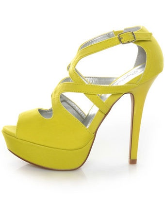 1000  ideas about Yellow Strappy High Heels on Pinterest | High ...