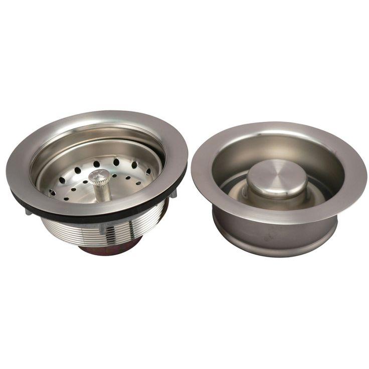 Keeney 4.5-in Brushed Nickel Stainless Steel Garbage Disposal Sink Flange