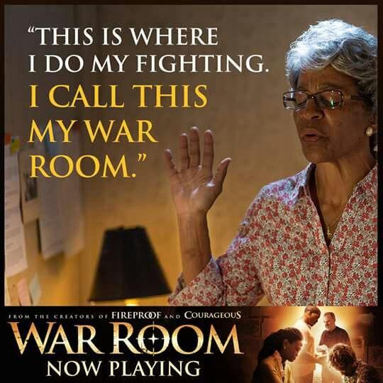 I do my prayer fighting in my War Room.  #WarRoom  Amen!
