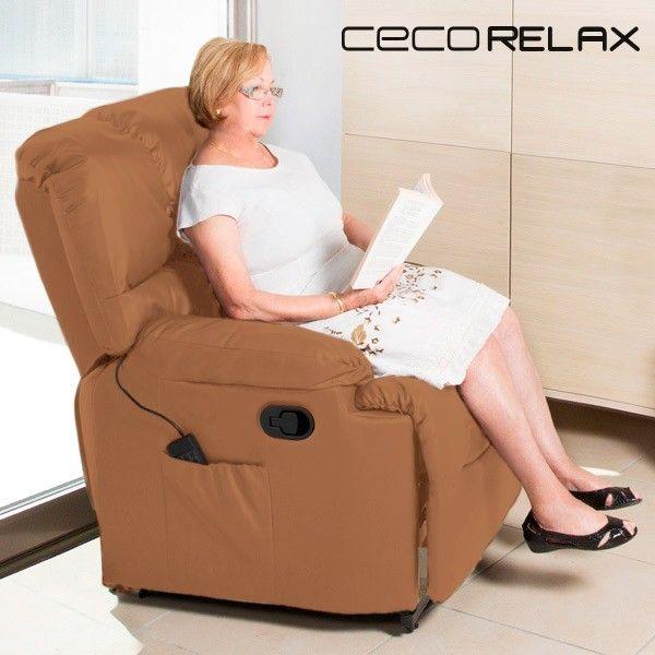 183,13 € Poltrona Relax Massaggiante Cecorelax Camel 6005 in vendita ...