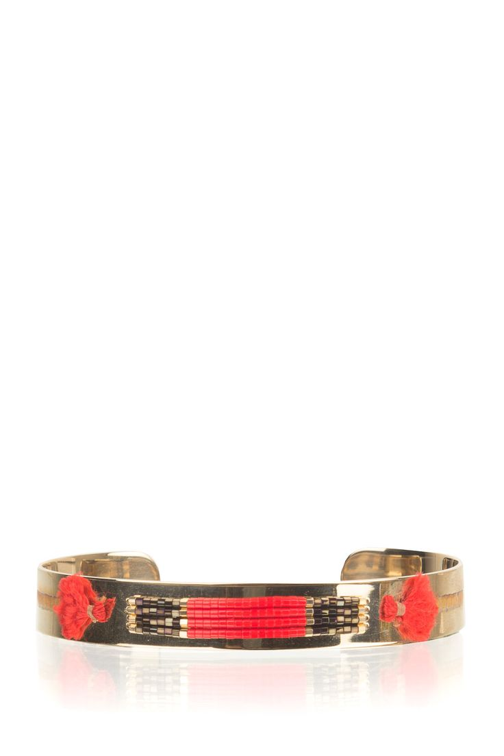 Satellite Paris | 14k vergulden armband Adara | red