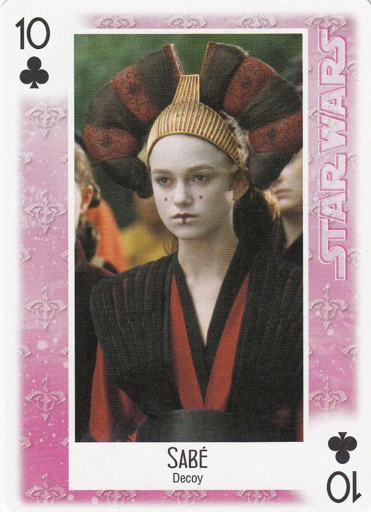STAR WARS PLAYING CARD SABE DECOY KEIRA KNIGHTLEY